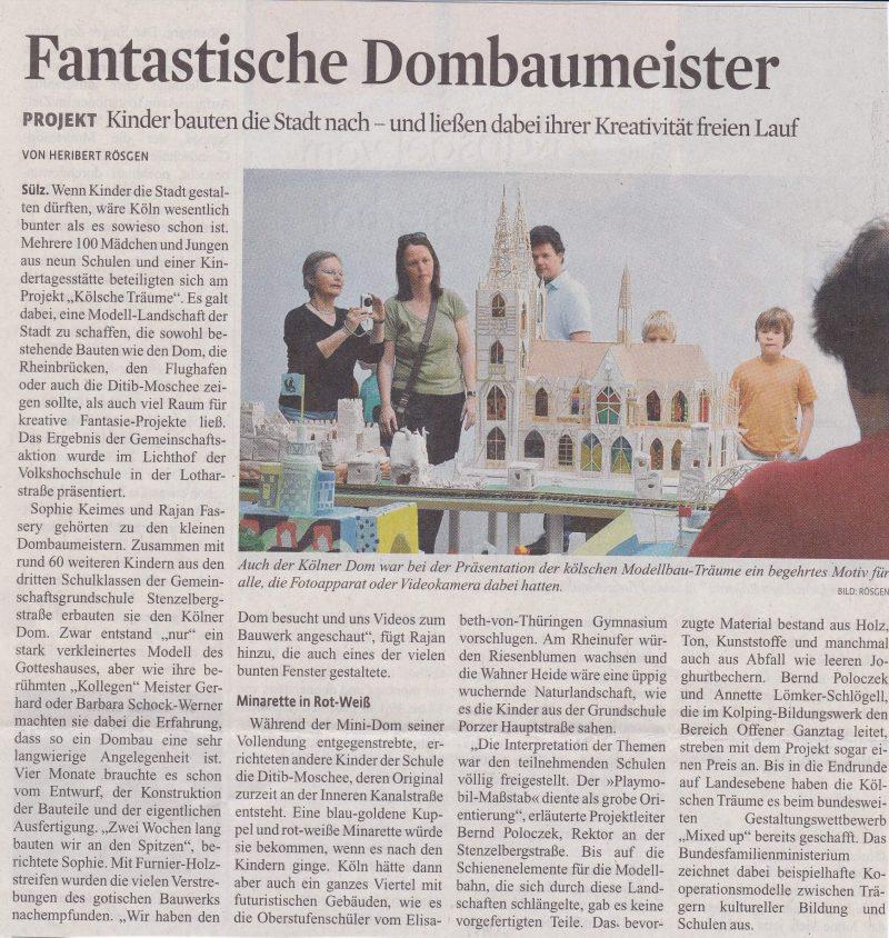 Fantastische Dombaumeister, KStA 12.2009