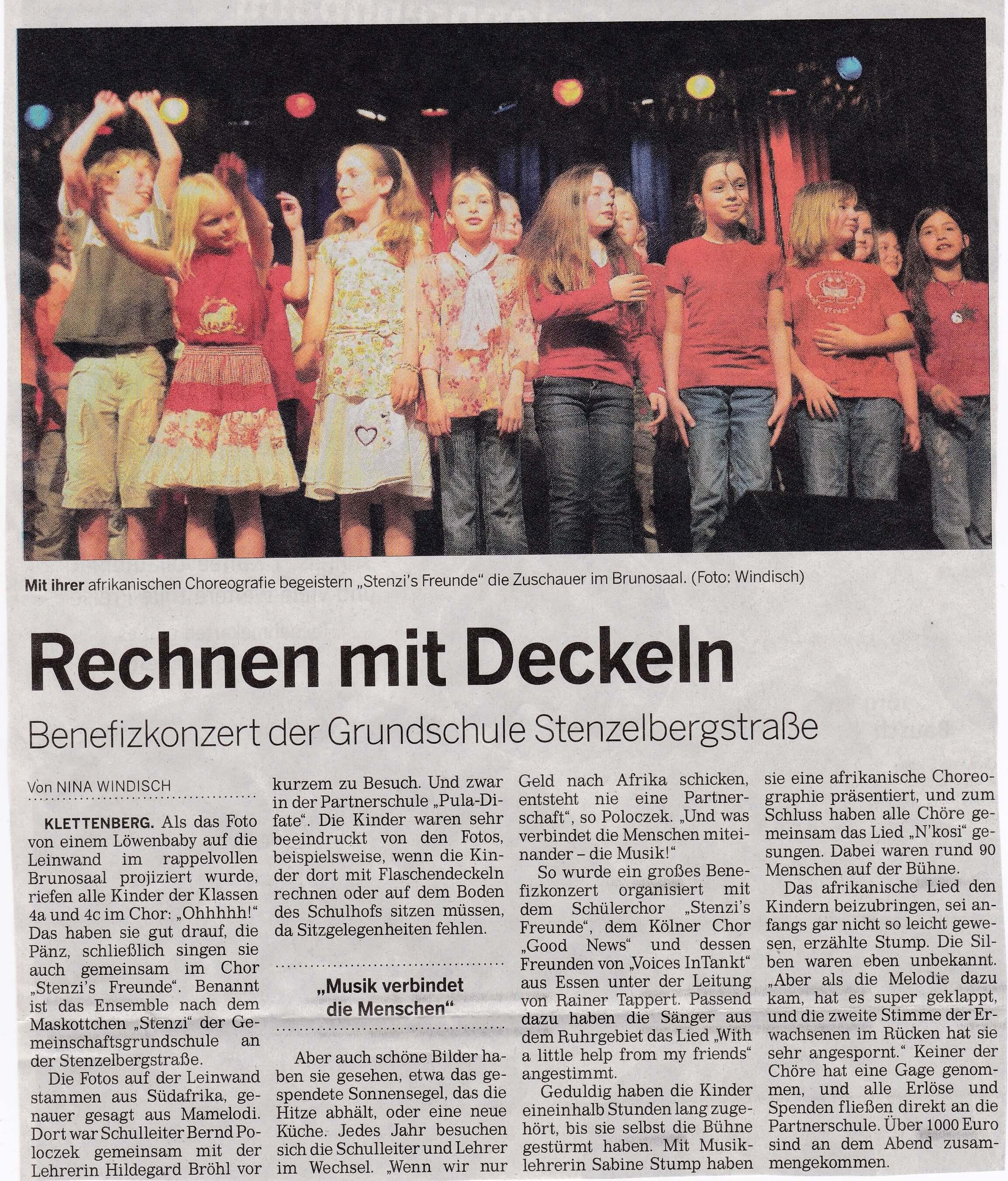 Rechnen mit Deckeln, KStA 05.2009