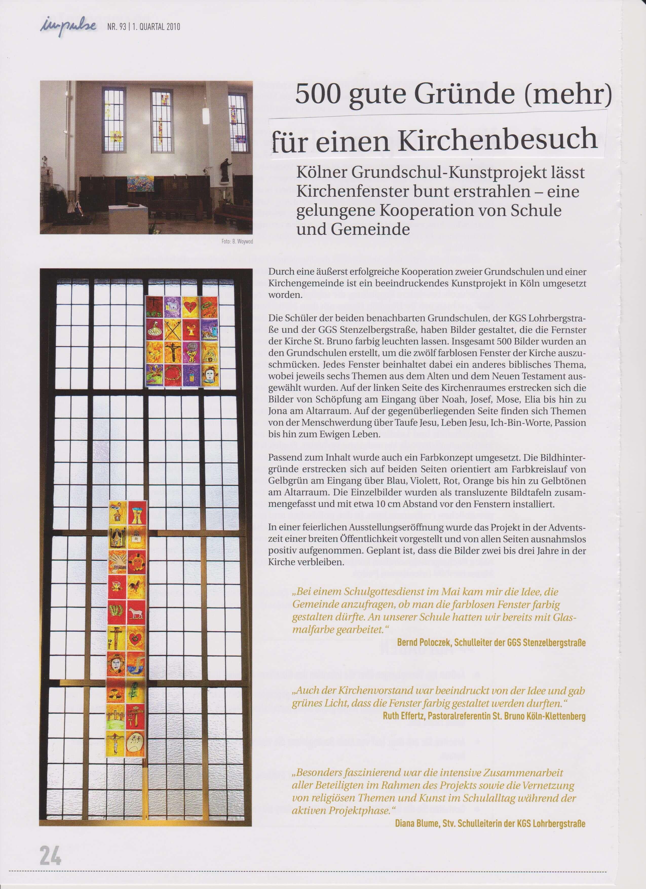Kirchenfensterprojekt, 2010
